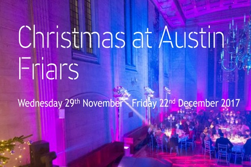 An Austin Friars Christmas Party - Best Venues London