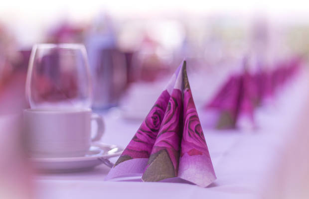 Napkins on a table