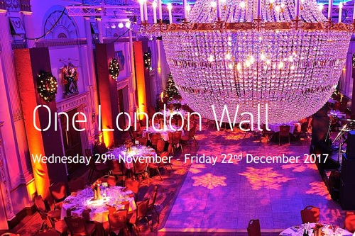 One London Wall Christmas Party Event - Best Venues London