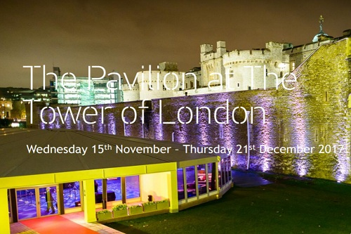 The Pavilion at The Tower of London Christmas Party - Best Venues London